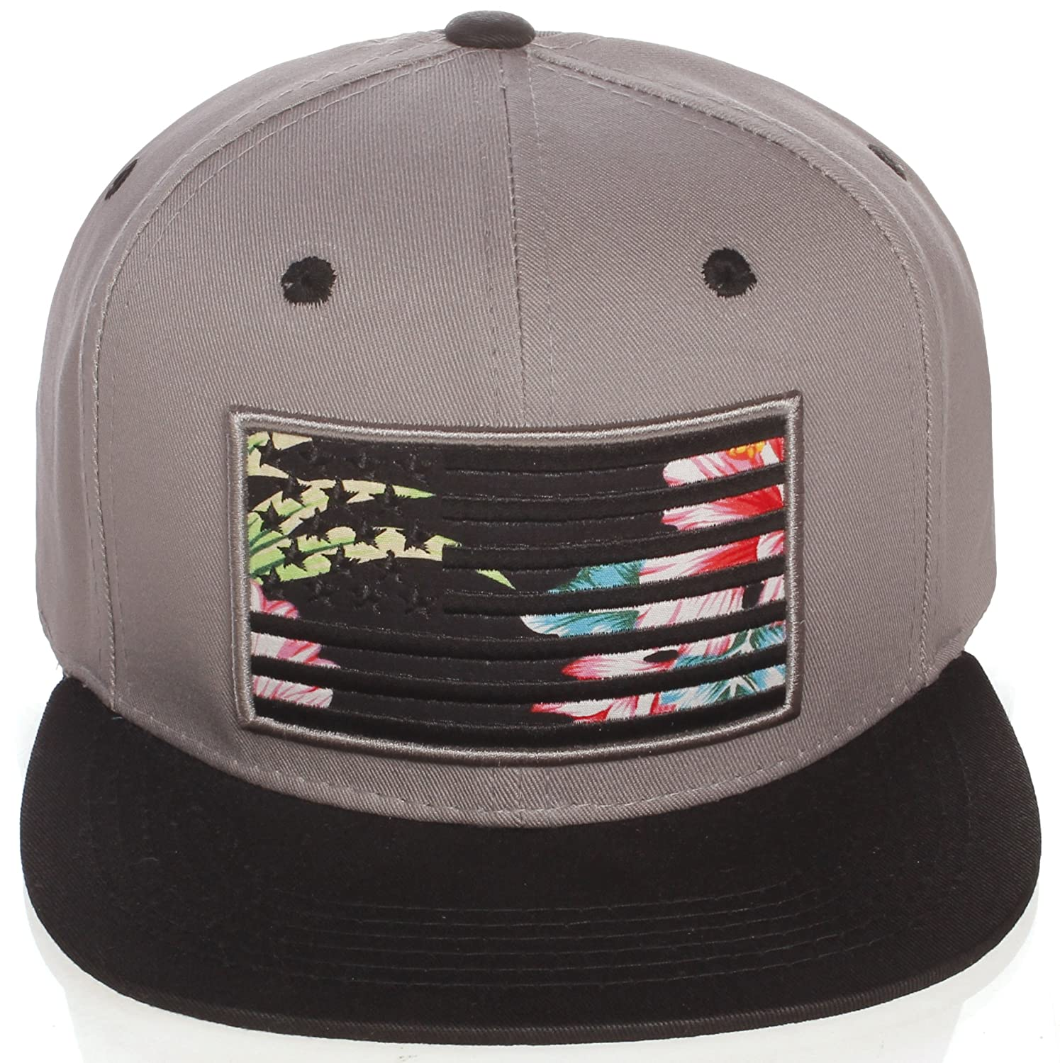 32746abf02350 Amazon.com  American Cities Men s USA Flag National Snapback Hat Cap 3D  Embroidery  Clothing