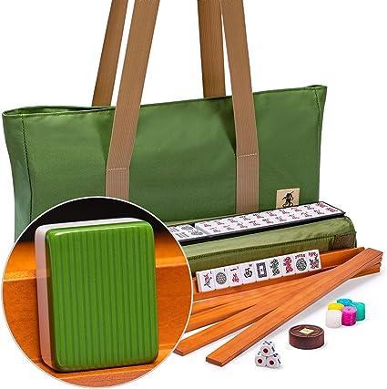 "Pushers Racks /""Huntington/"" with Olive Green Soft Case American Mahjong Set"