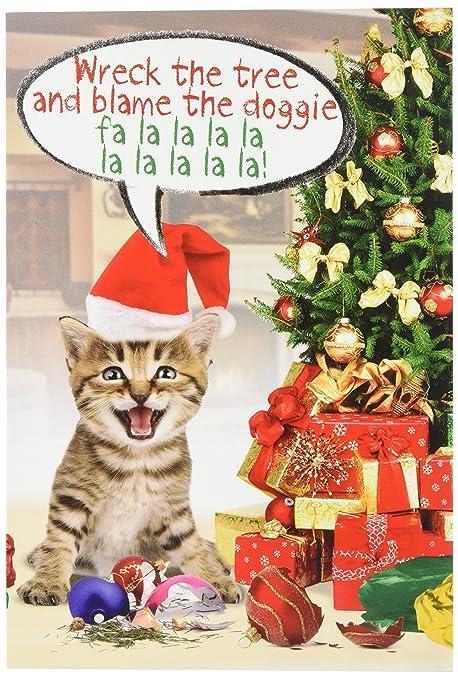 Foto Divertenti Di Buon Natale.1910 Incolpare Il Cane Biglietto Di Auguri Di Buon Natale Con