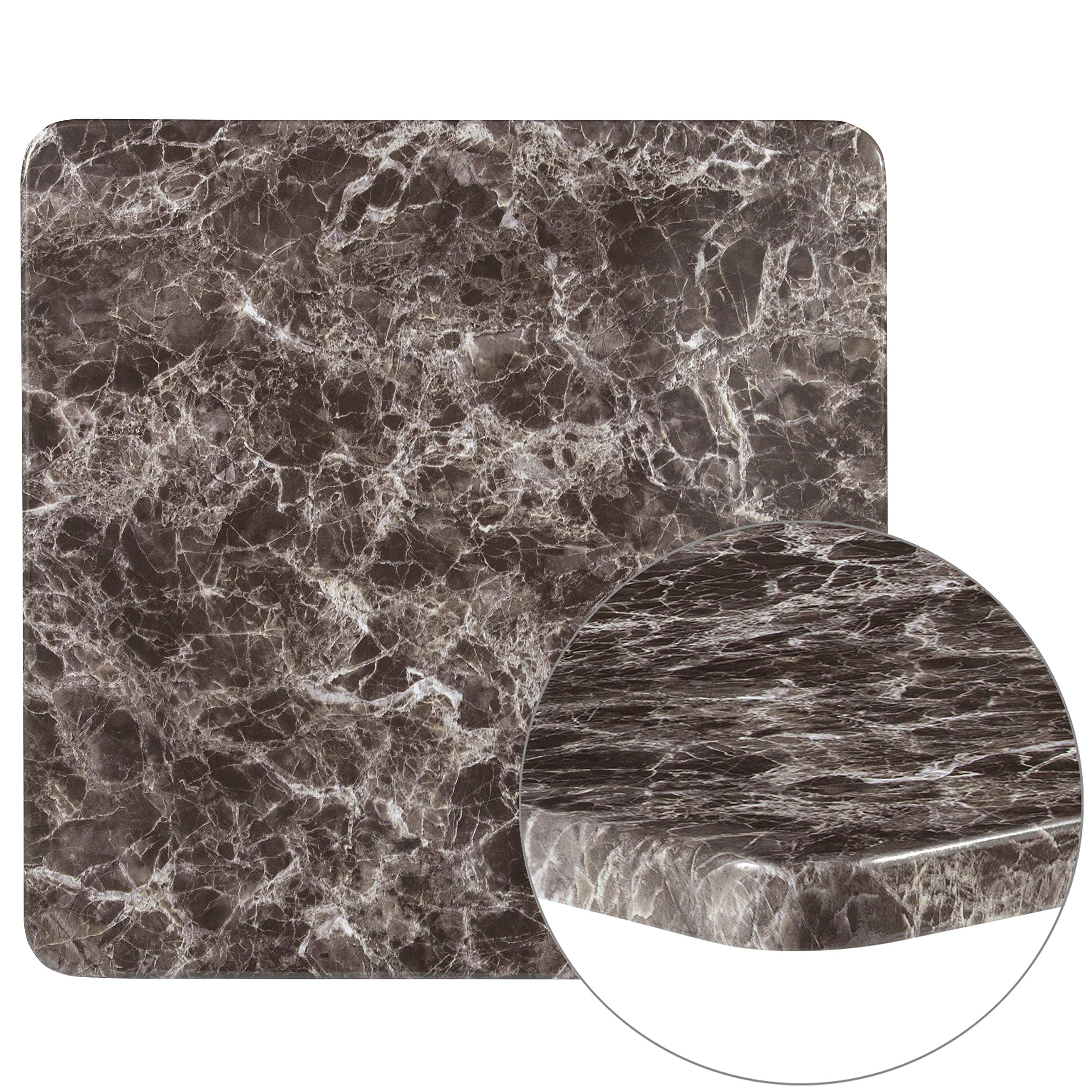 Flash Furniture 30'' Square Gray Marble Laminate Table Top