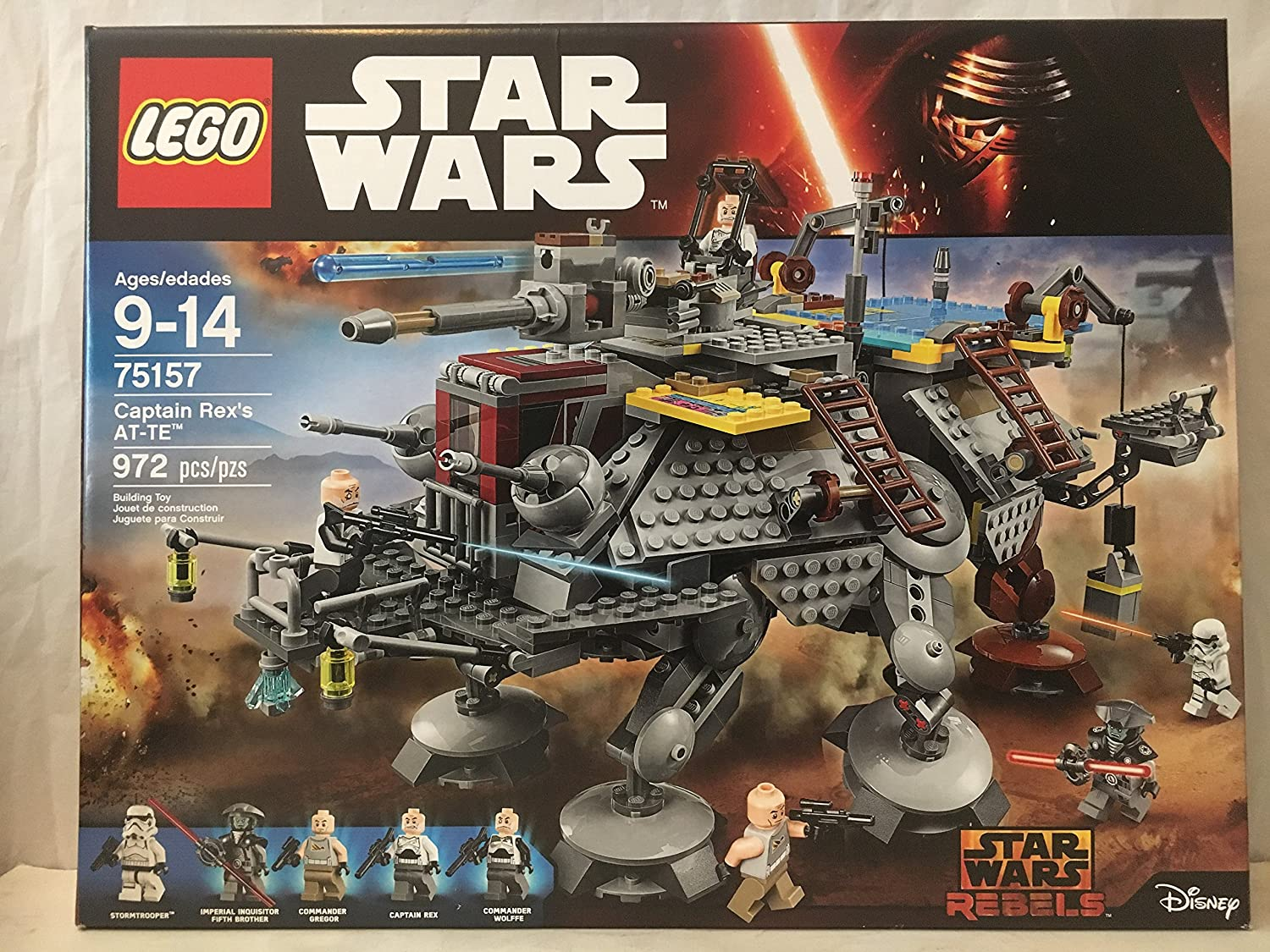Amazon.com: LEGO Star Wars Captain Rexs AT-TE & LEGO Star Wars Resistance Trooper Battle Pack: Toys & Games