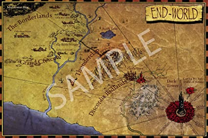 Amazon Com Best Print Store Gunslinger Vintage The End World Map