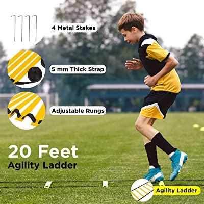 Agility Training Set Ladder Resistance Parachute Disc Cone Speed Football Player