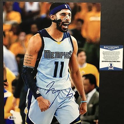 purchase cheap d9f11 b5e15 Autographed/Signed Mike Conley Jr. Memphis Grizzlies 11x14 ...