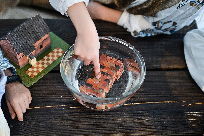 Gypsum Reusable Building Kit Real Plaster Bricks 1080 Piece Wise Elk Toy Dragons Castle Construction Set