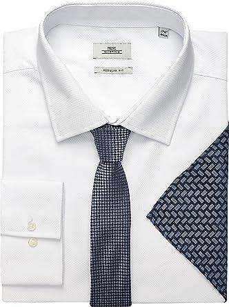 next Hombre Conjunto De Camisa, Corbata Y Pañuelo Blanco ...