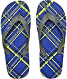 Showaflops Mens' Antimicrobial Shower & Water Sandals for Pool, Beach, Dorm and Gym - Blue Plaid