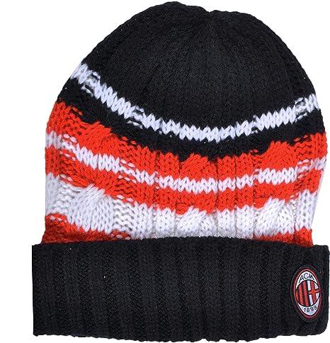 Exclusiv   Set invernale AC Milan Milano berretto e sciarpa Junior acciaio 727f1a5fa19d