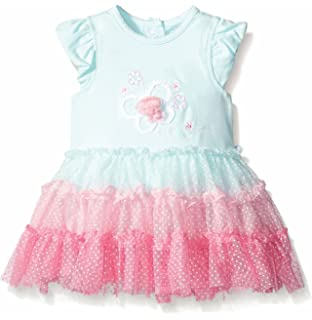 8a5244003f87 Amazon.com  Little Me Baby Girls  Woven Sundress with Panty  Clothing