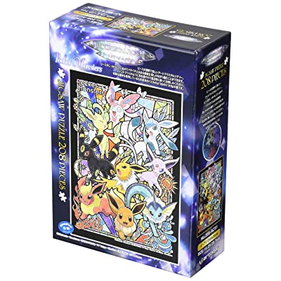208 Piece Art Crystal Jigsaw Puzzle Pocket Monster Evey Evolutions (18.2 x 25.7 cm): Toys & Games