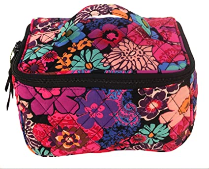 5a054b0bdbf Image Unavailable. Image not available for. Color  Vera Bradley Travel Cosmetic  Bag in Floral Fiesta