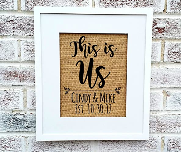 this is us personalized engagement giftspersonalized bridal shower gift