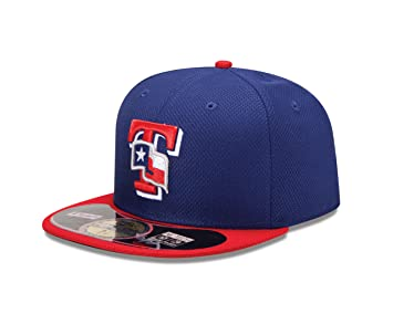 6c9cd84162c70 New Era Texas Rangers Diamant Era 59 Fifty Casquette Ajustée, Bleu/Rouge, 7