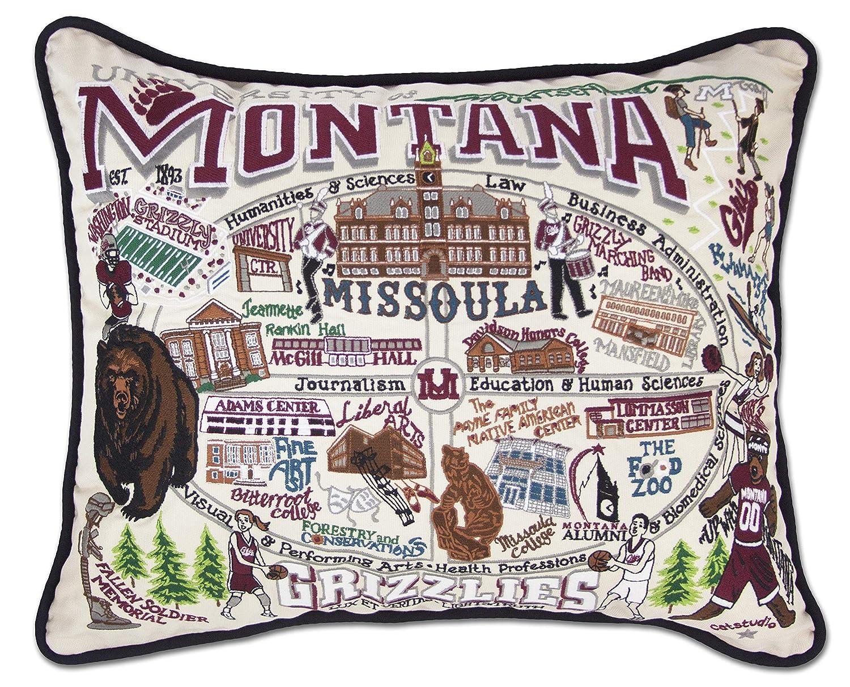 モンタナ、大学のCollegiate刺繍枕 – Catstudio B01N7I8JZT