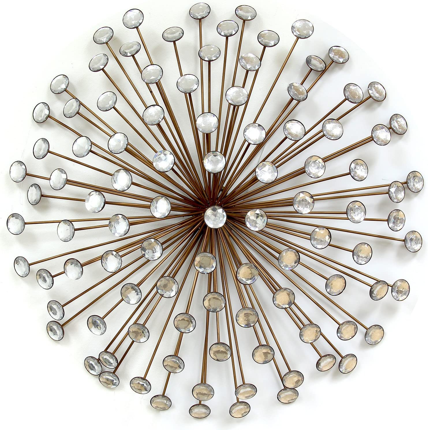 Stratton Home Decor SPC 986 Acrylic Burst Wall Decor, Bronze, 24.00 W X 1.50 D X 24.00 H