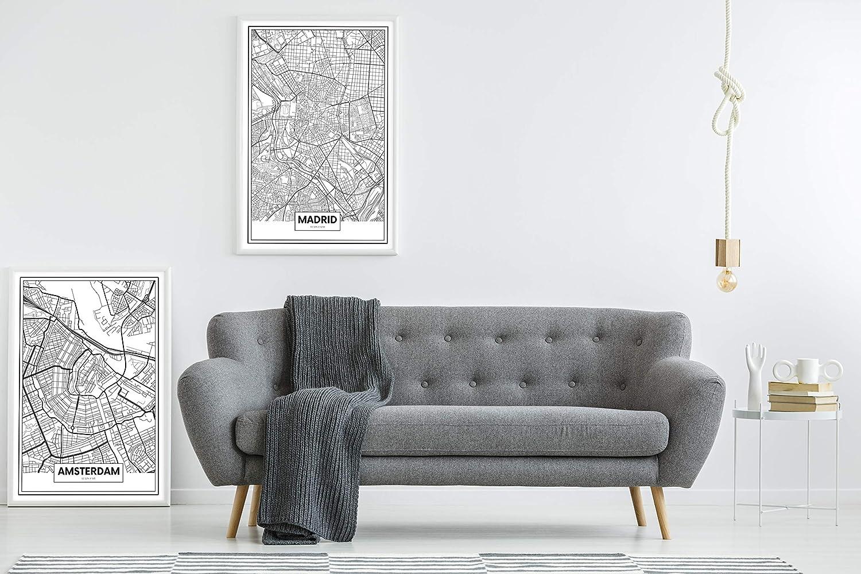 Panorama® Póster Mapa de Madrid 50 x 70 cm | Impreso en Papel 250gr | Póster Pared | Cuadros Decoración Salón | Cuadros para Dormitorio | Póster ...