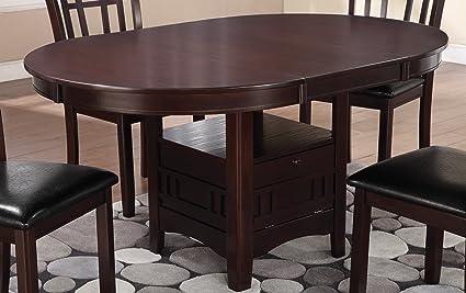 Image Unavailable & Amazon.com - Lavon Dining Table with Storage Espresso - Tables