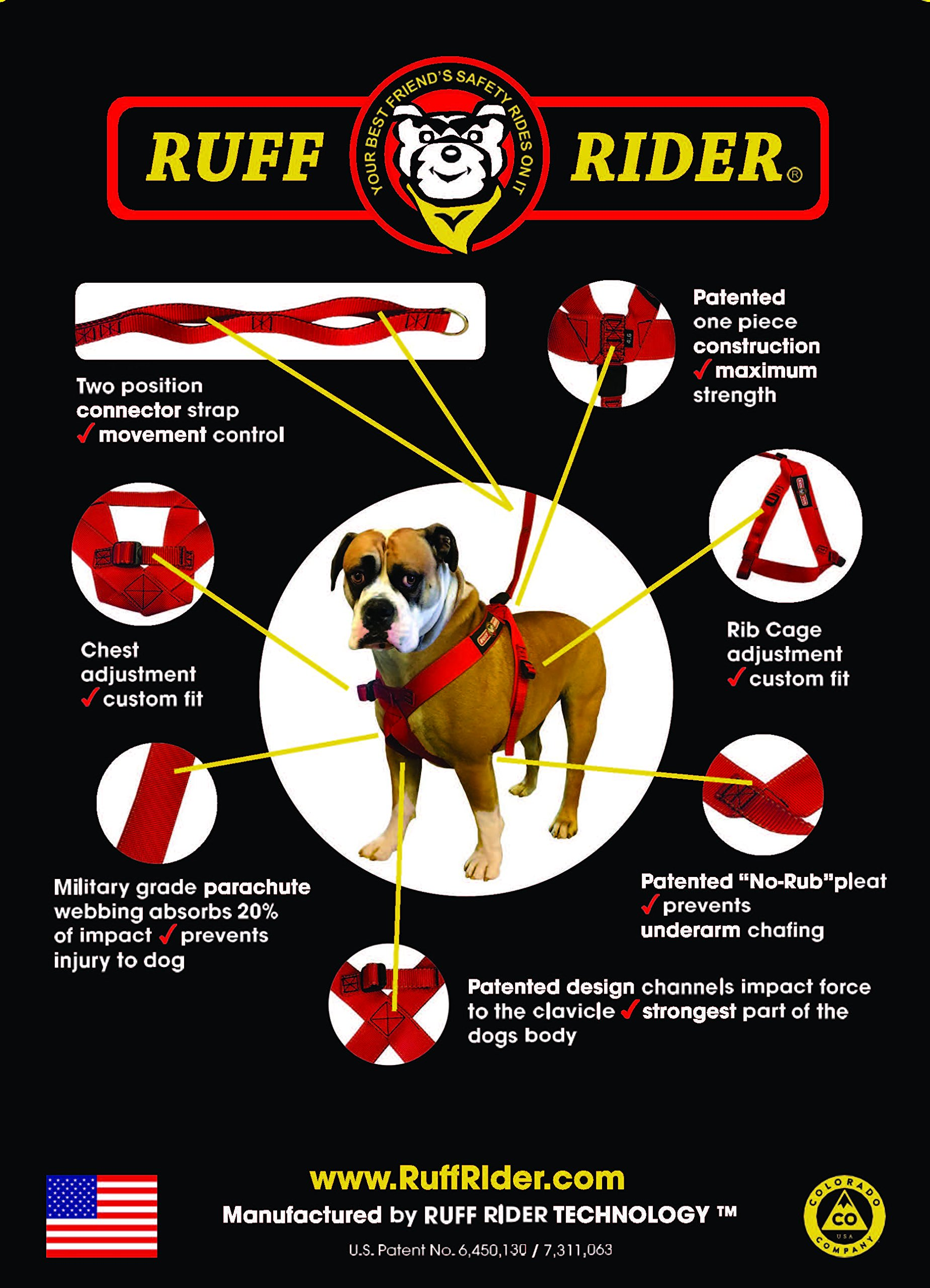 Ruff Rider Roadie Canine Vehicle Safety And Training Harness