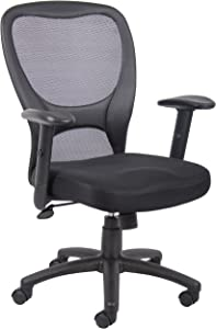 Boss Office Products B6508 Budget Mesh Task Chair in Black
