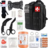 """THRIAID Emergency Survival First Aid Kit with Tourniquet, 6"""" Israeli Bandage, Splint, Military Combat Tactical Molle IFAK EMT"""