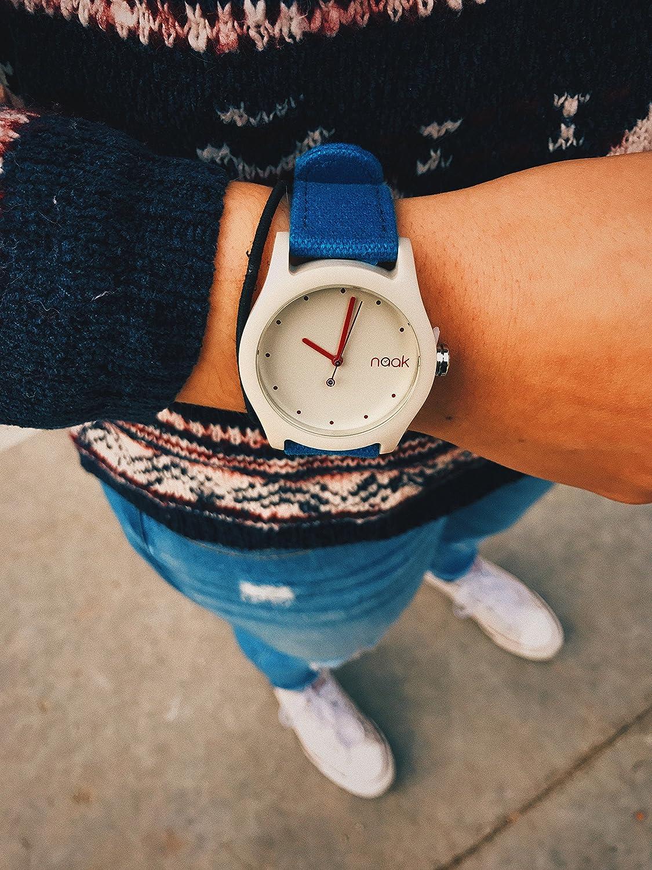 Naak Lea Cream Reloj para Unisex Analógico de Cuarzo con Brazalete de Nylon 017-NLEA-CRE: Amazon.es: Relojes