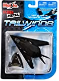 """Maisto Fresh Metal Tailwinds 1:150 Scale Die Cast United States Military Aircraft - U.S. Air Force Stealth Ground Attack Aircraft F-117 Nighthawk with Display Stand (Dimension: 3-1/2"""" x 5-1/4"""" x 1"""")"""