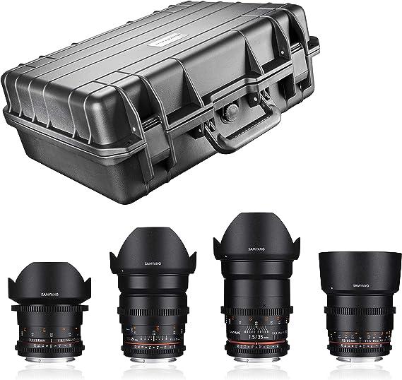 Samyang Video Lens Dslr Shooter Set Canon Ef Black Camera Photo