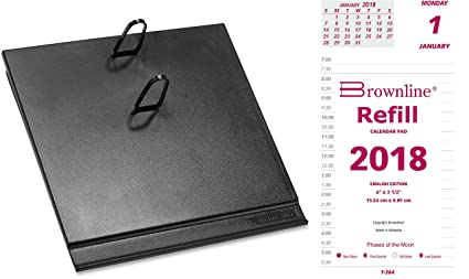 amazon com 2018 daily calendar set includes refill and base
