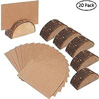 Pack 20 Porta Tarjetas de Madera Rustico