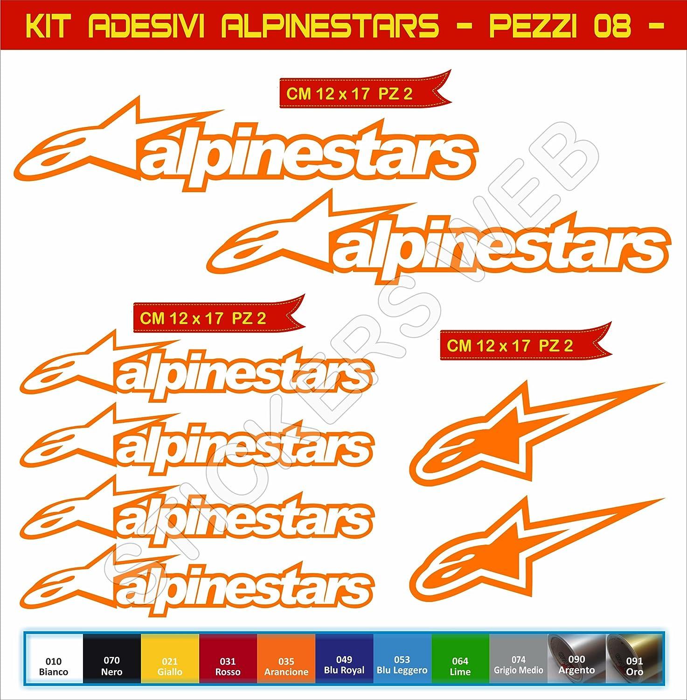 Motocicletas Pimastickerslab Pegatinas Adhesivos Alpinestars para Motos Cod.0645