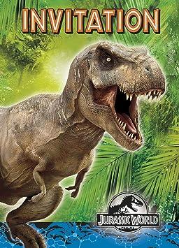 Jurassic Monde 8 Cartes D Invitation Enveloppes Anniversaire Et Le Parti