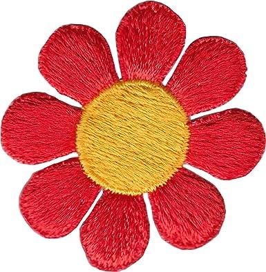 Parche bordado para coser ropa con bordado de color amarillo