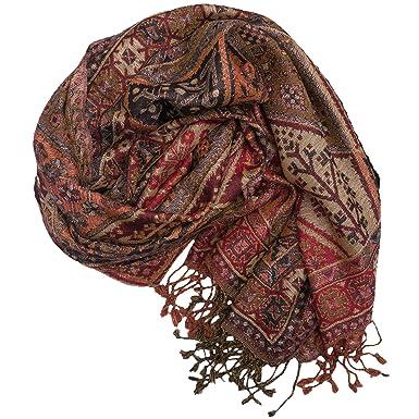 Ufash Pashmina - Écharpe chaude d Inde, Paisley, 180 x 70 cm - 60 ... 0a1f2403565