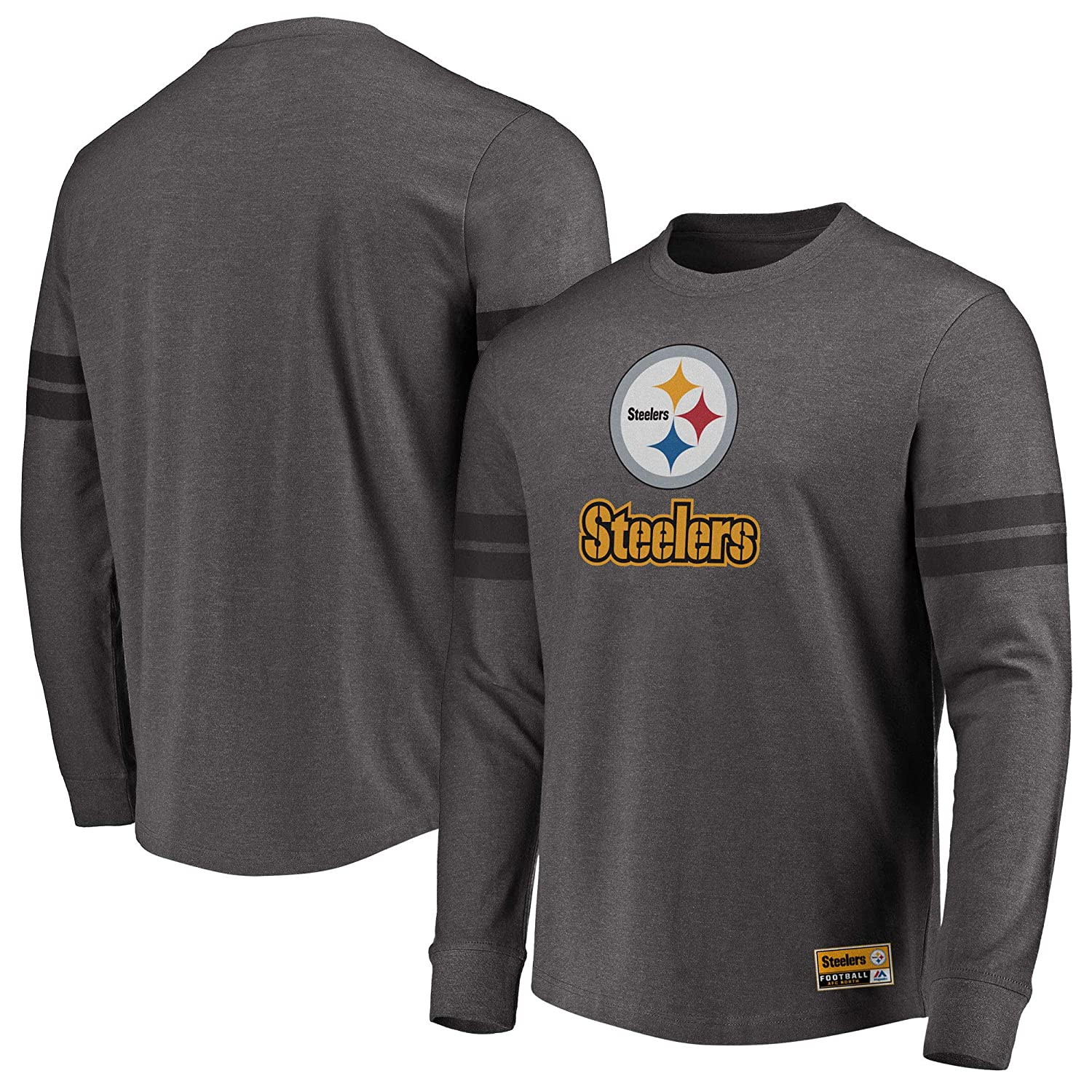low priced 643dc 76458 Pittsburgh Steelers Flex Double Stripe Long Long Long Sleeve ...