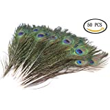 """IDS 50 Pcs Natural Peacock Feathers For Wedding Decoration 10""""-12"""""""