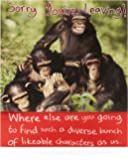 Sorry You're Leaving Card Funny - Goodbye Card Funny - Ideal Leaving Gift Card for Colleagues - Sorry You're Leaving Gifts - Monkey, Chimp
