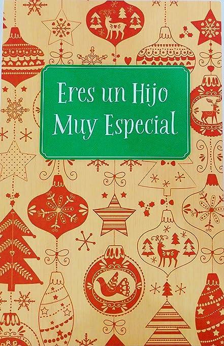 Amazon eres un hijo muy especial feliz navidad merry eres un hijo muy especial feliz navidad merry christmas greeting card for son in m4hsunfo