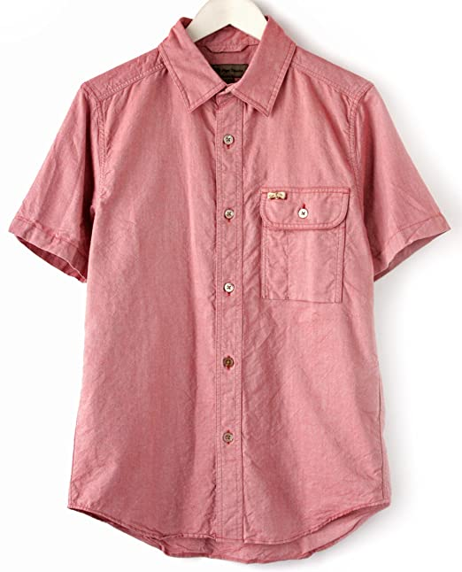7d71df167798 (ナイジェル・ケーボン) Nigel Cabourn German Sh SS Pinpoint OX (Red 50)