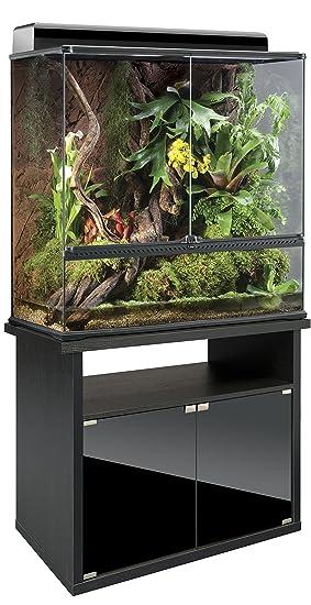 exo terra combi terrarium 90 x 45 x 90 verre avec meuble pour terrarium terrarienbeleuchtu ngab