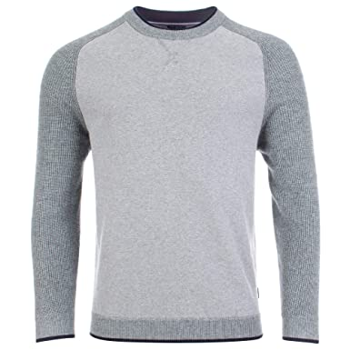 efd6fb1566ab9e Amazon.com: Ted Baker Mens Crew Neck Knitted Jumper in Grey: Clothing