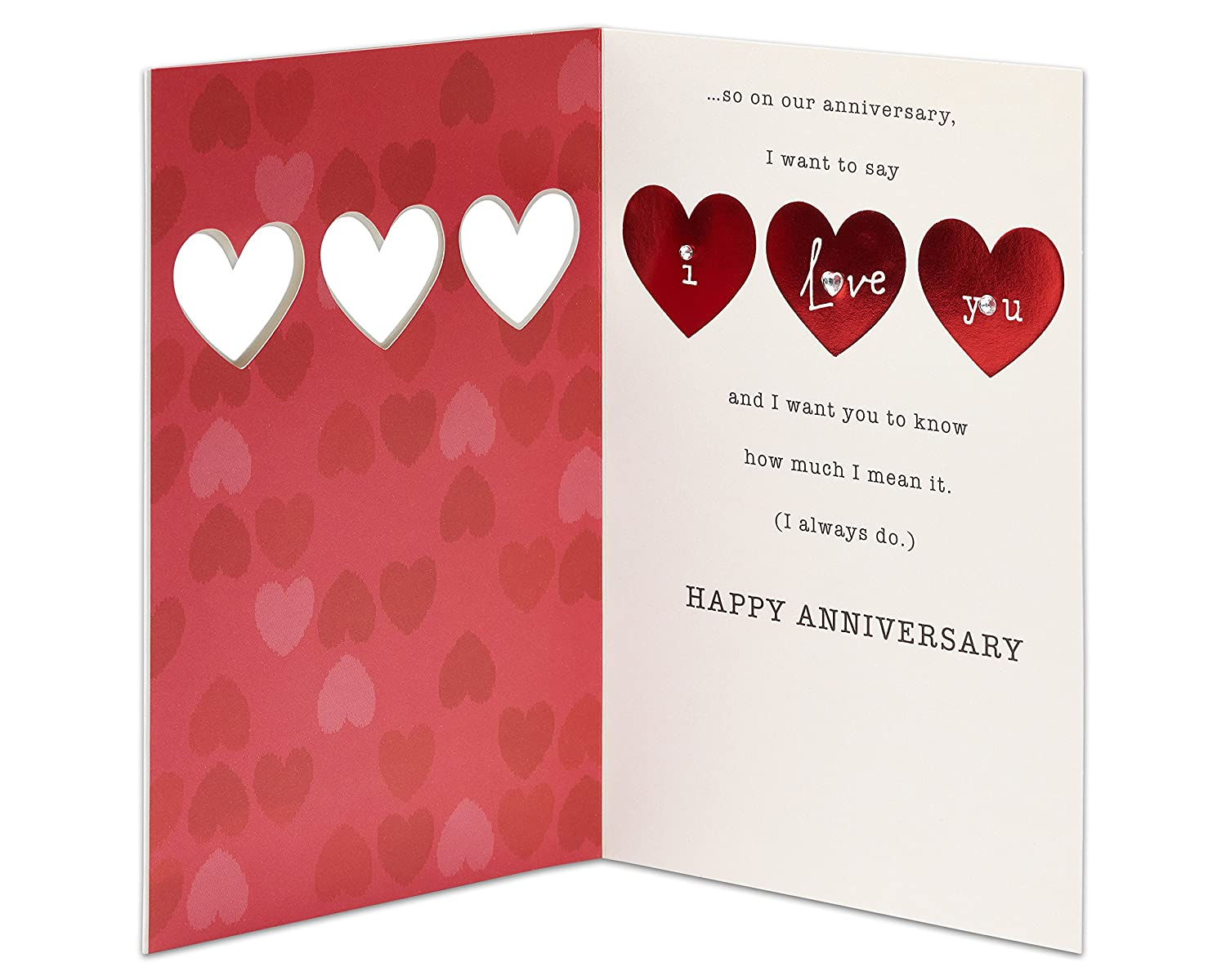 Amazon American Greetings I Love You Anniversary Card With
