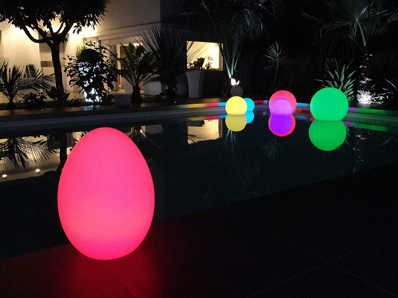 dise/ño con forma de huevo L/ámpara LED port/átil Lumisky BAT-OE5 30 x 30 x 42 cm color blanco