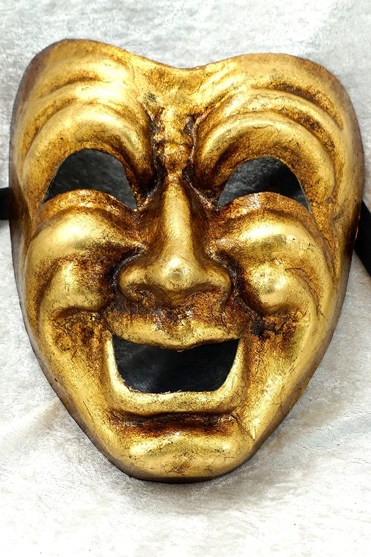 Bluemoon Venice - Mascara Veneciana - Volto Comedia Oro: Amazon.es: Handmade