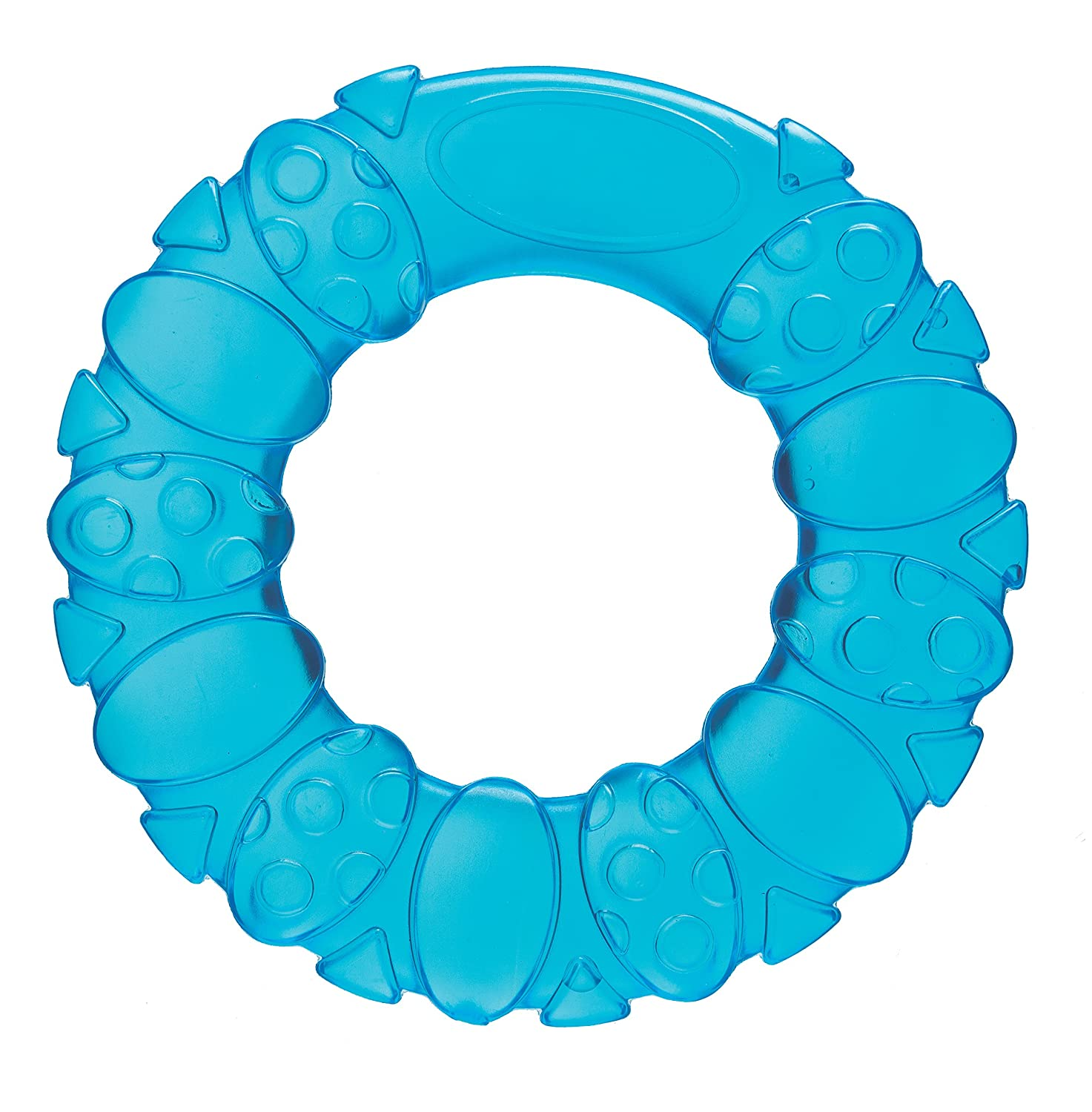 Playgro 0186401 Soothing Circle Water Teether - Blue for Baby Infant Toddler Children, Playgro is Encouraging Imagination with STEM/STEM for a Bright Future - Great Start for a World of Learning