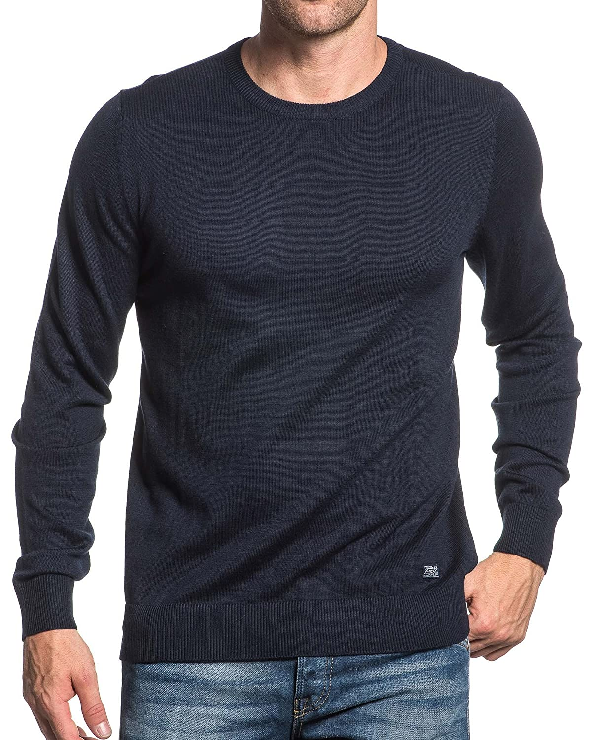 Petrol Industries - blue sweater man navy round neck