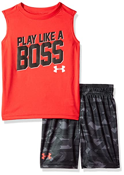 3b004f08b8 Under Armour Boys' Muscle and Tank Set