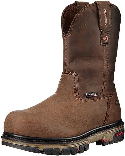 e942efb3681 Wolverine Men's Nation Waterproof Comp Toe Pull-on Work Shoe