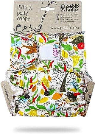Wiederverwendbar und waschbar Aloha Petit Lulu Bamboo Maxi-Night Windel ausgestattet Klettverschluss Made in Europe