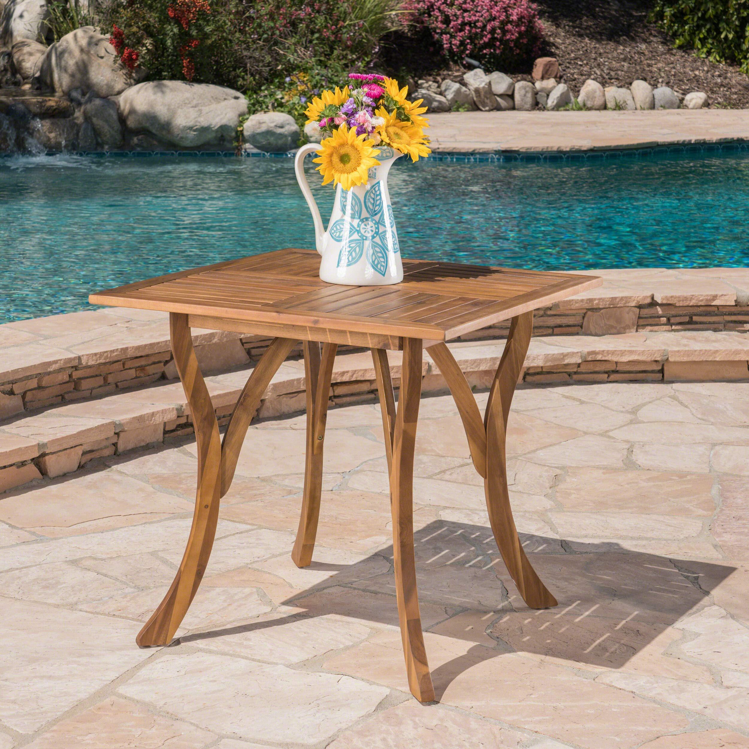 Christopher Knight Home Baia Square Acacia Wood Table