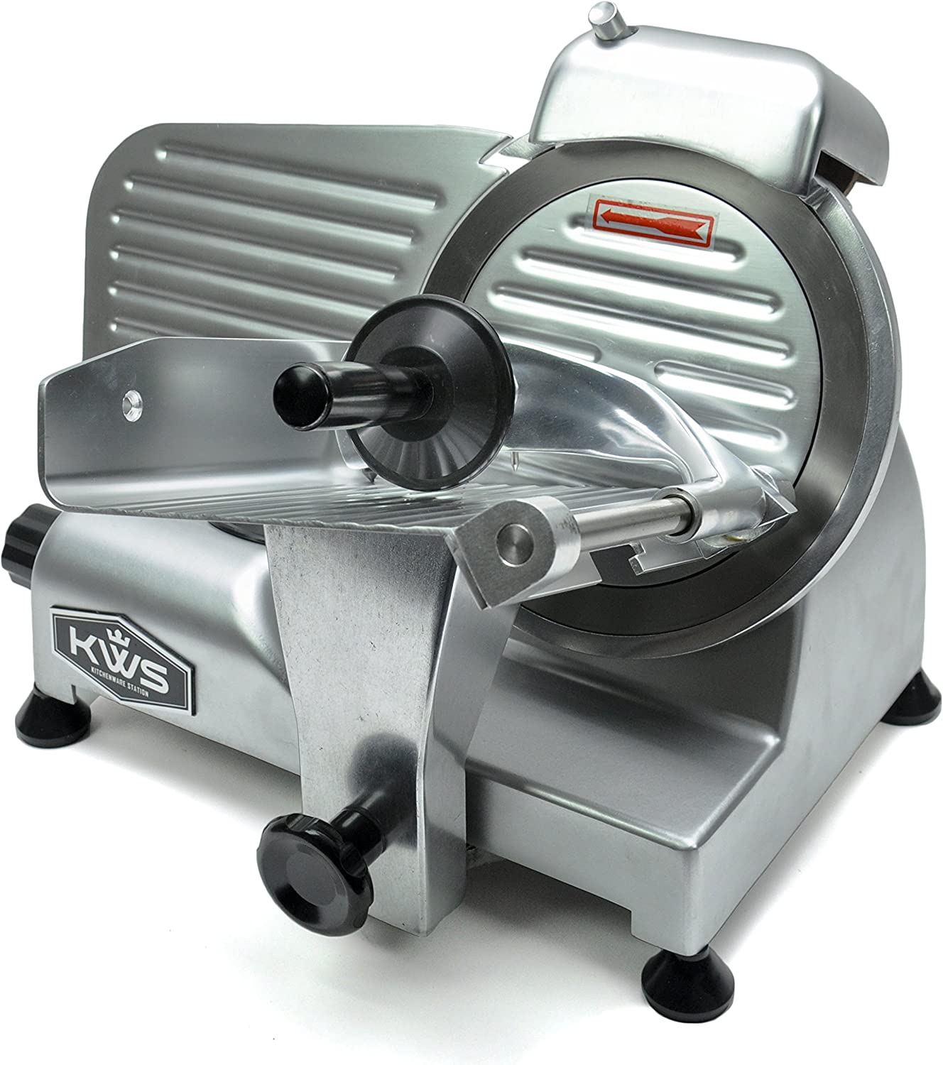 KWS Premium Commercial 200W Electric Meat Slicer 6